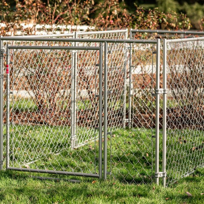 DIY Chain Link Pet Kennel, 4'H x 5'W x 10'L | Lucky Dog
