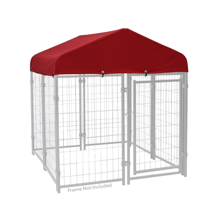 4ft x 4ft Canopy Kennel Cover w/ Sunbrella Fabric |Lucky Dog