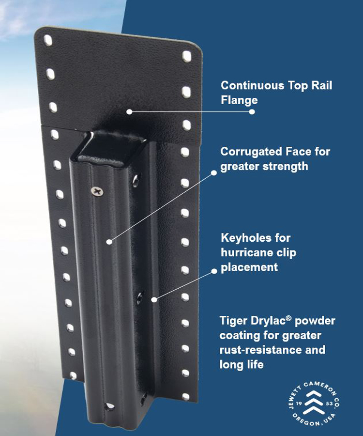 Lifetime Steel Post™ - 10' Black Post with Double Powdercoat Finish
